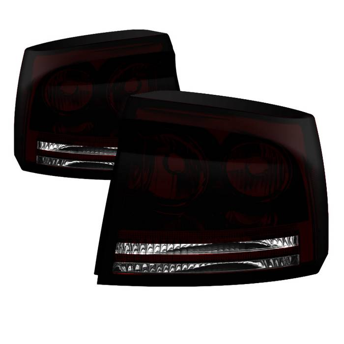 2005-2008 Dodge Charger OEM Style Tail Lights - Dark Red
