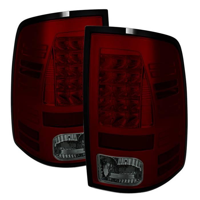 2013-2018 Dodge Ram HD LED Tail Lights - LED Model only - Red Smoke