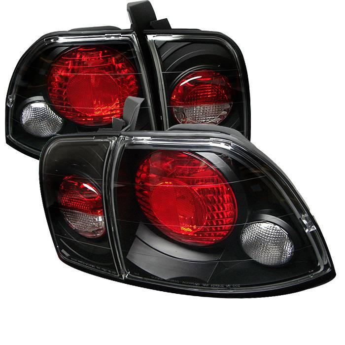 1996-1997 Honda Accord  Euro Style Tail Lights - Black