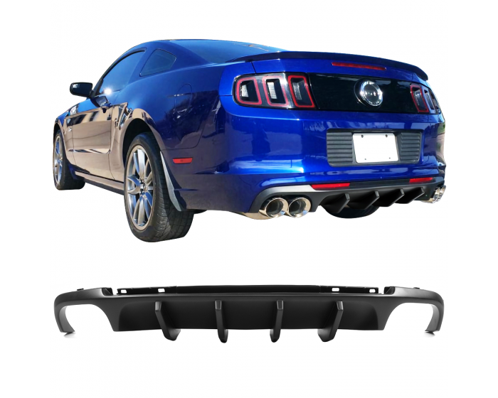 2013 2014 Ford Mustang Shelby V2 Style Rear Bumper Lip Diffuser Pp