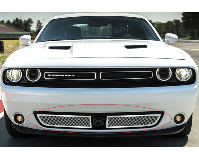 ABS RED for Dodge Challenger ST SRT 2015-2019 Front Grill Mesh Grille Inserts Car Accessories Decorative Trim