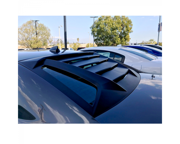 Side Window Louver Windshield Sunshade Cover ABS Matte Black in Lambo GT Style for Dodge Charger 2011-2020