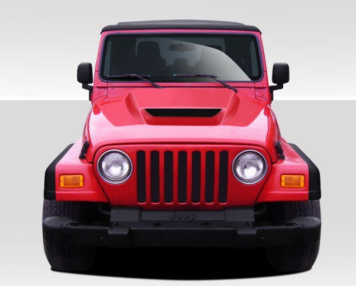 [NRIO_4796]   1997-2006 Jeep Wrangler Duraflex CVX Hood (non highline fenders) - 1 Piece | 2006 Jeep Wrangler Hood |  | Driven By Style LLC