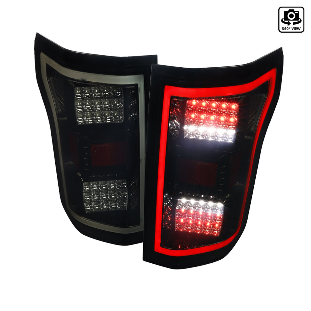 2018-2020 Ford F-150 LED Tail Lights (Glossy Black Housing/Smoke Lens)